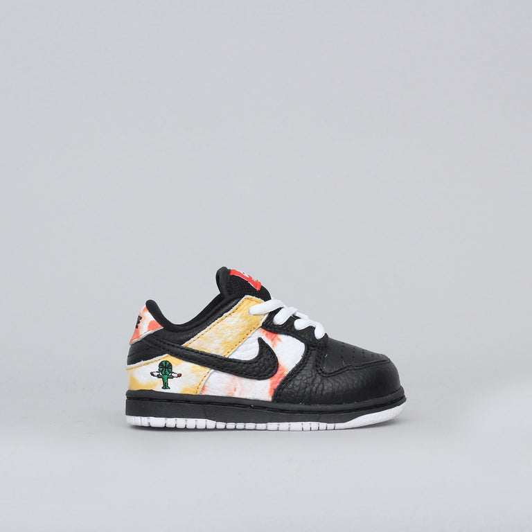 Nike SB Dunk Low QS Raygun Child Shoes Black / Black - Orange Flash