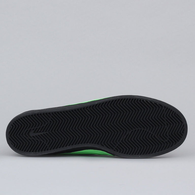 Nike SB X Poets Bruin QS Shoes Black / Voltage Green - White