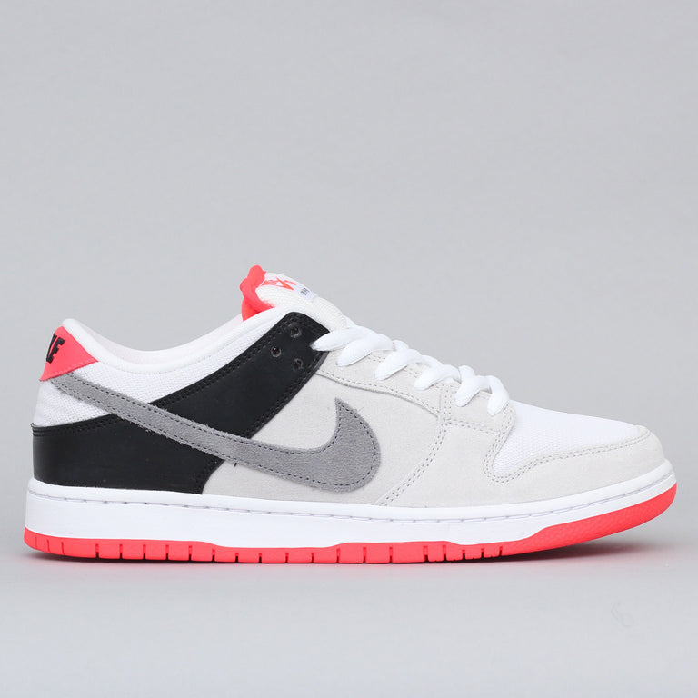 Nike SB Dunk Low Pro ISO Shoes Neutral Grey / Cool Grey - Black - Infrared