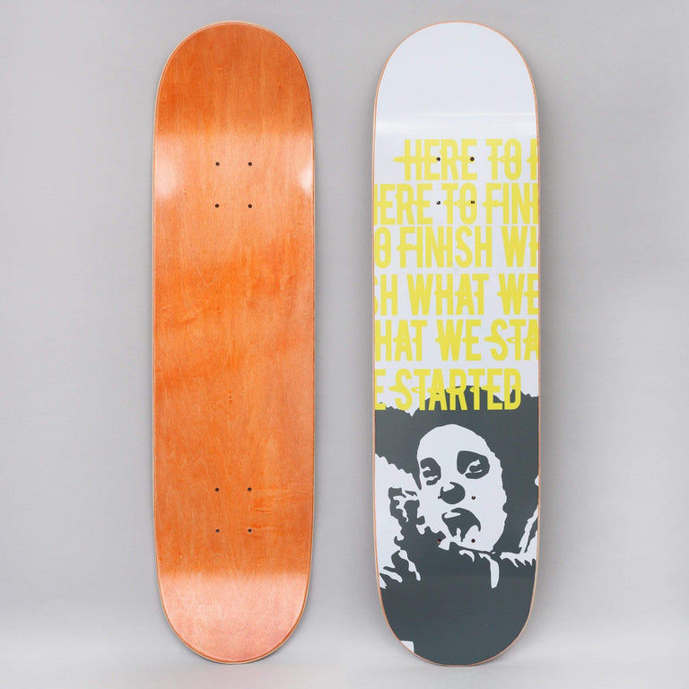 Clown 8.125 Manifesto Skateboard Deck White / Yellow