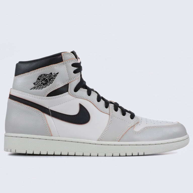 Nike Air Jordan 1 High OG Defiant Shoes Light Bone / Black - Crimson Tint - Hyper Pink