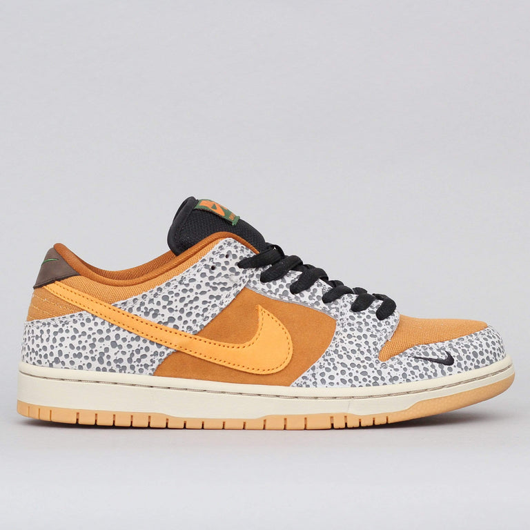 Nike SB Dunk Low Pro ISO Shoes Natural Grey / Kumquat