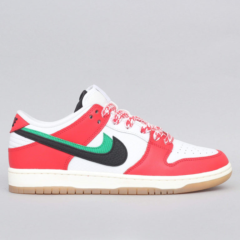 Nike SB Dunk Low Pro QS Shoes Chile Red / Black - White - Lucky Green