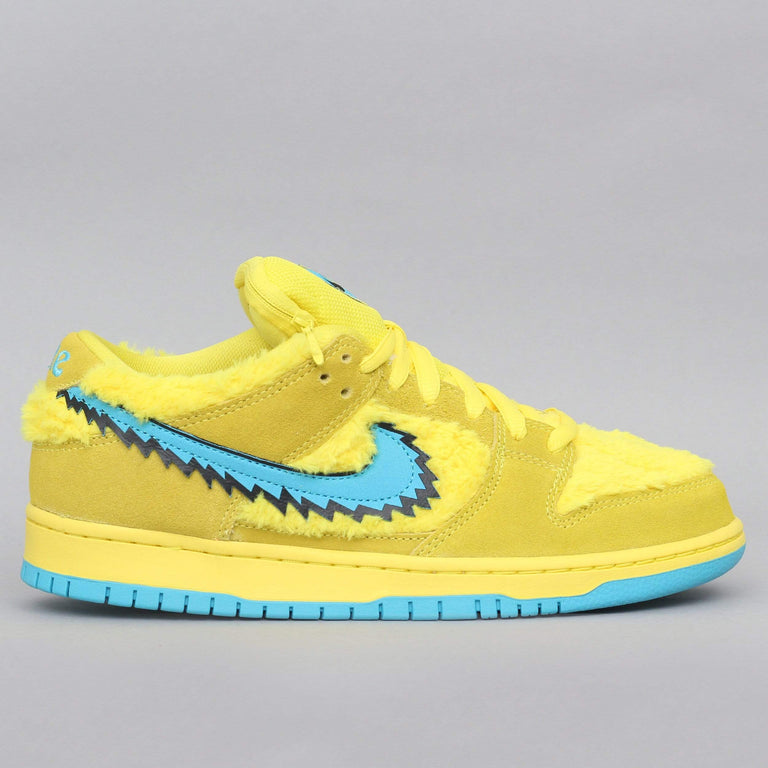 Nike SB Dunk Low Pro QS Shoes Opti Yellow / Blue Fury