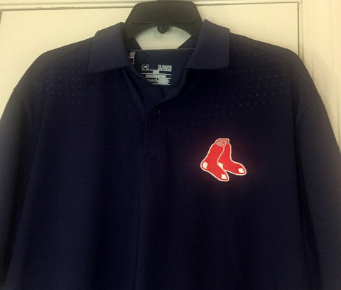 Under Armour Boston Red Sox Polo Golf  Blue Shirt Size XL - Teammvpsports