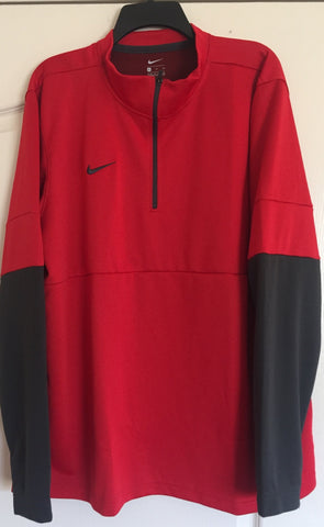 Nike Red/Pewter Coaches Sideline Performance Half-Zip Jacket