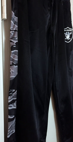 NFL Team Apparel Raiders Women's Track Pants Black Camo Size M, L, - Teammvpsports