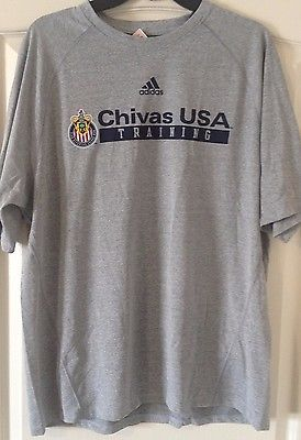 Adidas Chivas USA Training Performance Short Sleeve T-Shirt Ash Gray - Licensed - Teammvpsports