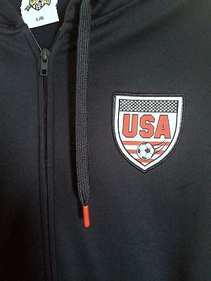 USA Soccer Football Hoodie Full Zip Blue HKY Striker Size L - Teammvpsports