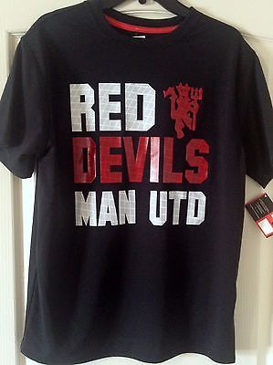 Manchester United Black Shirt  Size L Official Licensed Product - Teammvpsports