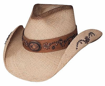 Bullhide Women's Straw Cowboy Hat - MORE THAN A MEMORY - Genuine Panama S,M,L,XL - Teammvpsports