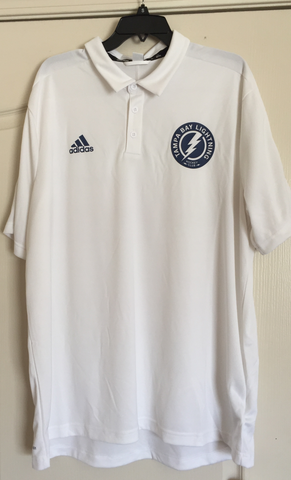 Adidas Tampa Bay Lightning White Golf Polo Shirt