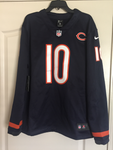 Nike Mitchell Trubisky Chicago Bears Navy Therma Long Sleeve Player Jersey