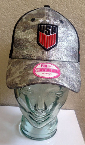 New Era Glamo Camo Woman's US Soccer Adjustable 9Forty Cap - Teammvpsports