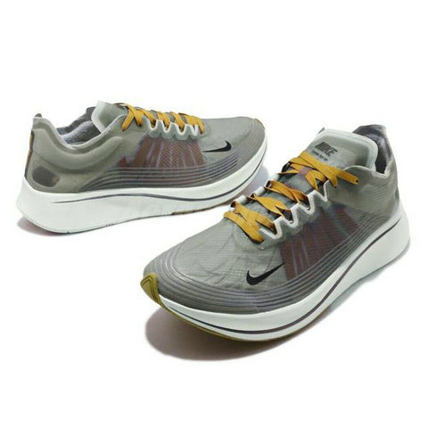 Nike Zoom Fly SP Grey Peat Moss White Mens Running Shoes - Teammvpsports