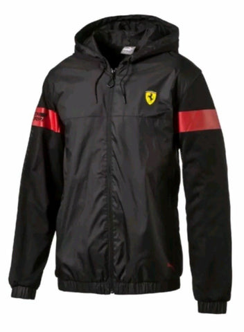 Puma Scuderia Ferrari Lightweight Jacket Windbreaker Black Size XL - Team MVP Sports