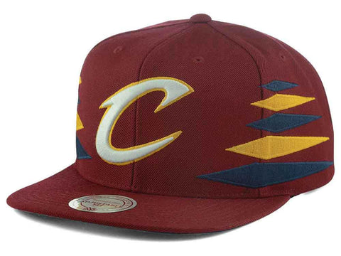 Cleveland Cavaliers Mitchell & Ness Solid Diamond Cap Adjustable Snapback - Teammvpsports