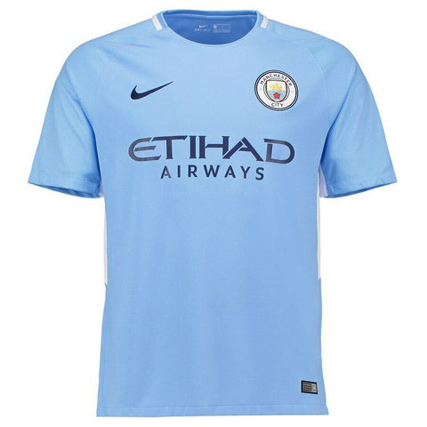 Nike Manchester City Home Soccer Stadium Jersey 2017-18-Light Blue Size L - Teammvpsports