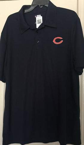 Majestic Cool Base Men's Chicago Bears Blue Golf Polo Shirt, Size XL - Teammvpsports