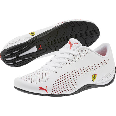 Men's Puma Ferrari Drift Cat 5 Ultra White White High Risk Red - Teammvpsports