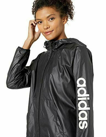 adidas Women's Essentials Linear Windbreaker Size L - Teammvpsports