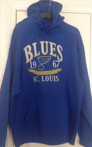 Old Time Hockey St Louis Blues Blue Pullover Hoodie Size L - Teammvpsports