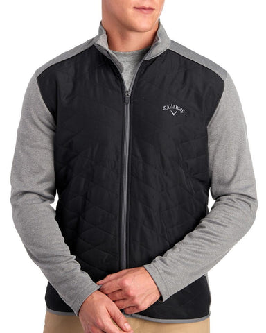 Callaway Quilted Full Zip Opti Shield Golf Jacket Medium Heather Gray Size L, XL, 2XL - Teammvpsports