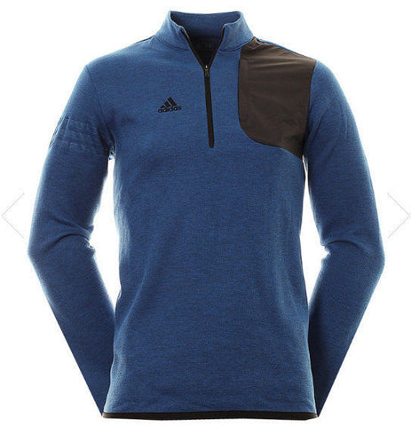 Adidas Golf Men's Club Performance 1/2 Zip Sweater, TMAG EQT Blue HTR, 2XL - Teammvpsports