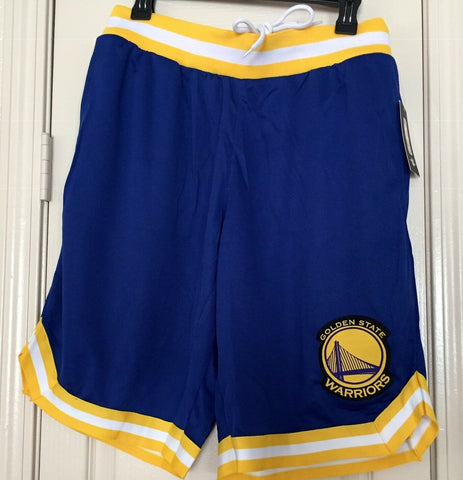 Golden State Warriors Men's Biue/Yellow Basketball Shorts Size M, L, XL - Teammvpsports