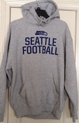 Seattle Seahawks Heather Gray Team Apparel Hoodie Size L - Teammvpsports
