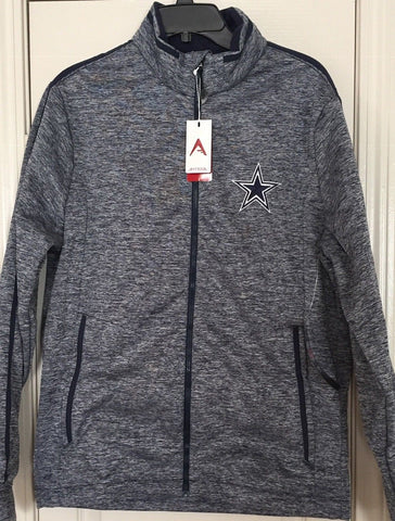 Antigua Dallas Cowboys Navy Gray Golf Jacket  Full Zip Size M - Teammvpsports