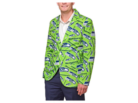 SEATTLE SEAHAWKS 2016 NFL MEN'S REPEAT PRINT BUSINESS JACKET Size L (46) - Team MVP Sports