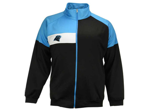 Majestic Carolina Panthers Men's Full-Zip Court Track Jacket Size XLT - Teammvpsports