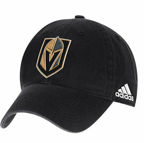 adidas Men's Vegas Golden Knights Black Unstructured Adjustable Cap - One Size - Teammvpsports