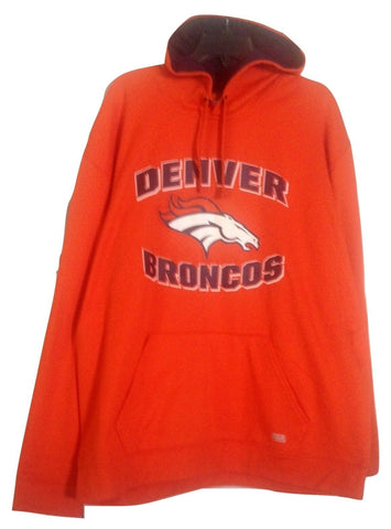 Denver Broncos Team Apparel TX3 Men's Orange Pullover Hoodie Size L - Teammvpsports
