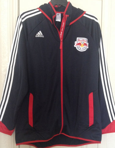 Adidas NEW YORK RED BULLS PRESENTATION TRACK JACKET HOODIE BLUE SIZE XL MSRP $90 - Teammvpsports