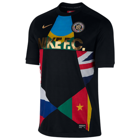 Nike FC Football Club 2018 World Cup Flag Jersey Black 886872-014 Men's Size L - Teammvpsports