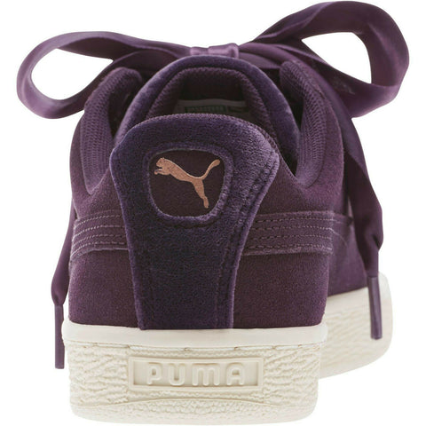 PUMA Suede Heart VR Women Sneakers Shoes Plum-Rose Gold-Whisper White - Teammvpsports