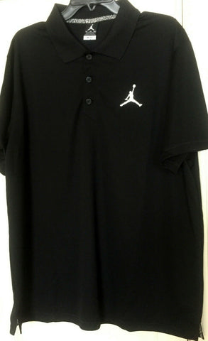 Nike Jordan Mens Dri-Fit Jumpman Logo Golf Polo Shirt Black New Size S - Teammvpsports
