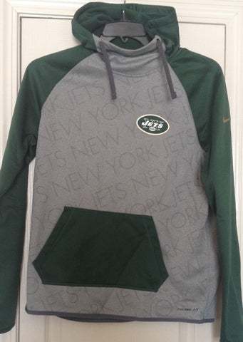 Women's Nike Gray New York Jets Championship Drive Gold Collection Hoody M - Teammvpsports