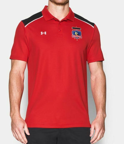 Under Armour Men's Red Colo Colo Jersey Polo SHirt  Size M - Teammvpsports