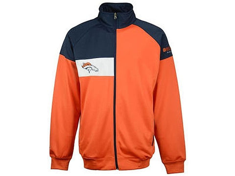 Majestic Denver Broncos Men's Full-Zip Court Track Jacket Size 2X, XLT - Teammvpsports