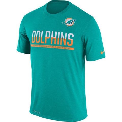 Nike Miami Dolphins Team Practice Legend Performance T-Shirt Size S, 2XL - Teammvpsports