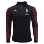 Puma Men's 2018/19 AC Milan T7 Track Jacket (Black-Chili Pepper) Size L XL - Teammvpsports