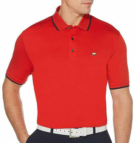 Jack Nicklaus Mens Goji Berry Red StayDri Short Sleeve Golf Polo Shirt Size S - Teammvpsports