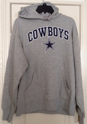 Dallas Cowboys Merchandise Heather Gray Team Apparel Hoodie Size M - Teammvpsports