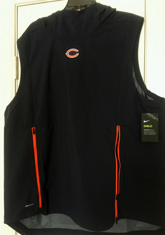Nike NFL Chicago Bears Shield Fly Rush Hooded Vest Jacket Men's Size M L XL - Teammvpsports