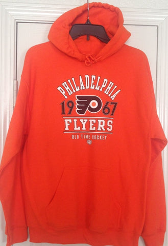 Old Time Hockey Philadelphia Flyers Orange Pullover Hoodie Size M - Teammvpsports
