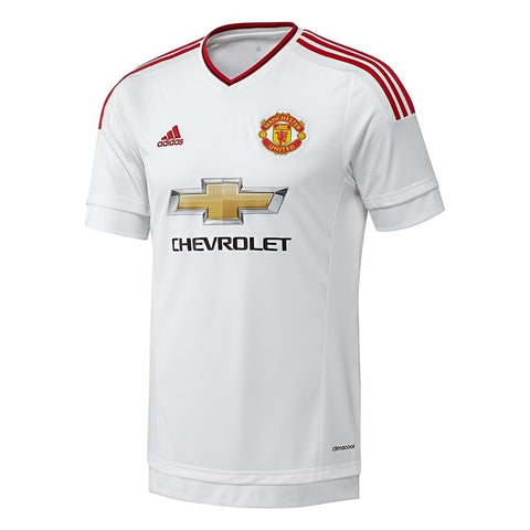 Men's ADIDAS Manchester United Away Replica Jersey White Red 2015/16 Size L - Teammvpsports