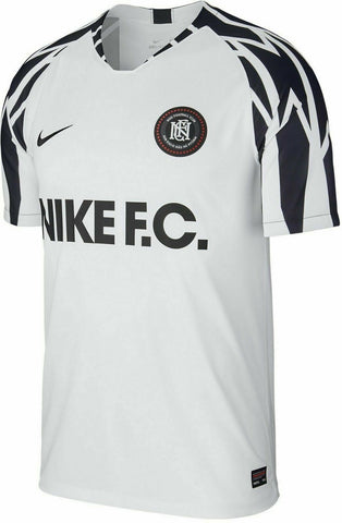 NIKE F.C. SOCCER FOOTBALL TRAINING JERSEY SIze Large  AA8128 100 White - Teammvpsports